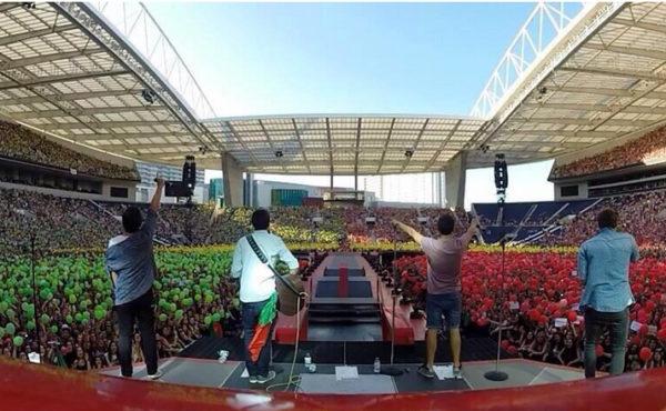 Os DAMA ao vivo no concerto dos One Direction