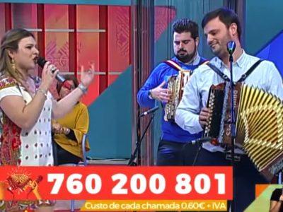 Desgarrada Naty Vieira e Valter São Martinho na Praça da Alegria